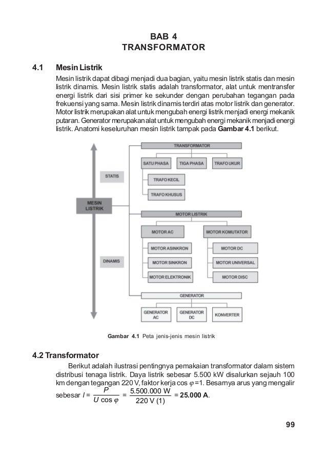 BAB 4                             TRANSFORMATOR4.1   Mesin Listrik      Mesin listrik dapat dibagi menjadi dua bagian, yai...
