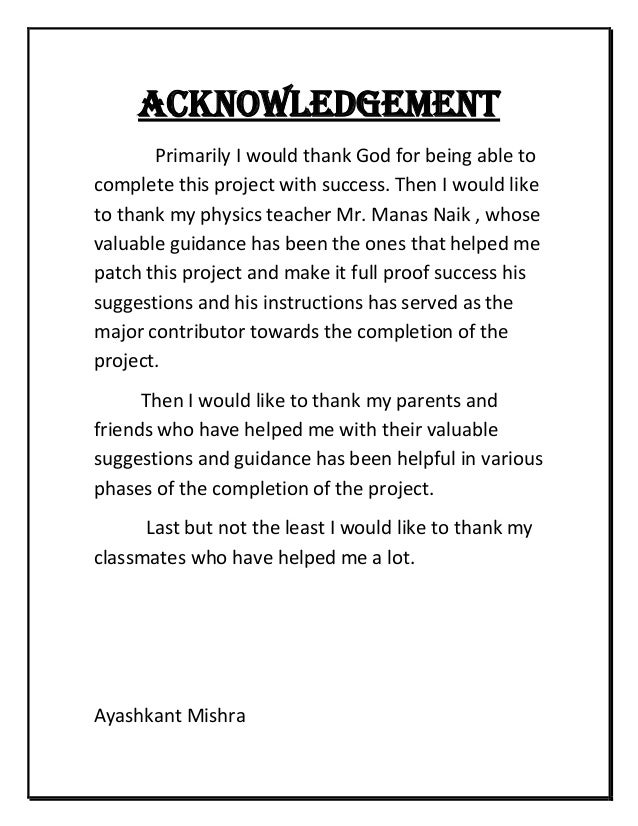 thesis acknowledgements parents