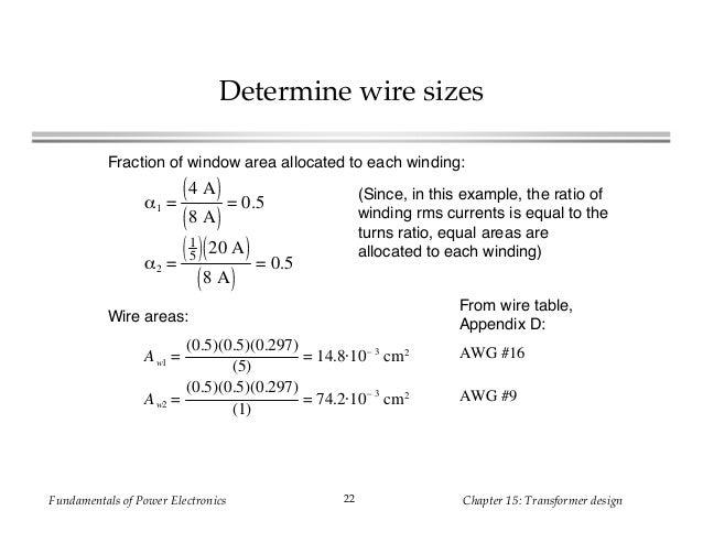 Transformer determine wire sizes greentooth Gallery