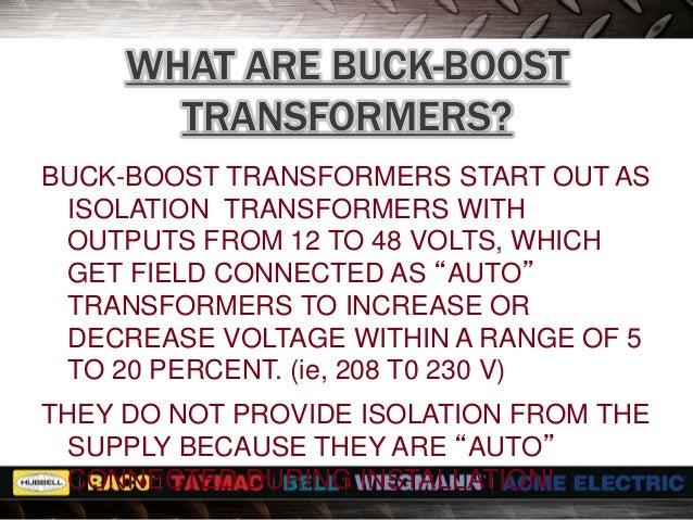 Transformer Seminar BuckBoost