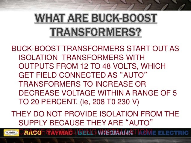 transformer seminar buck boost acme electric transformer seminar buck boost transformers 2