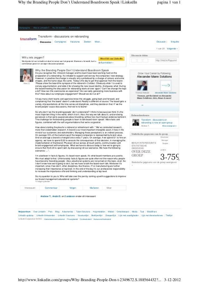 Why the Branding People Don't Understand Boardroom Speak | LinkedIn                                                       ...