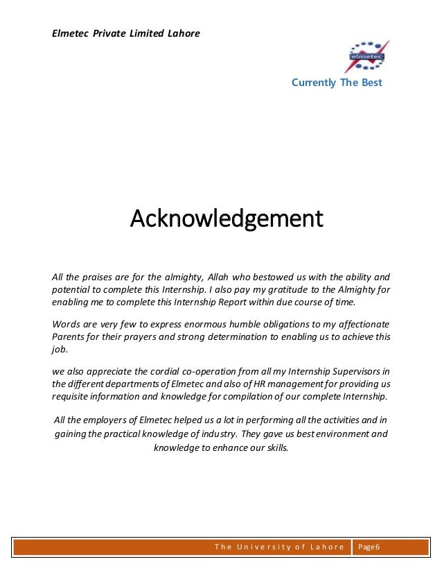 Thesis acknowledgements project