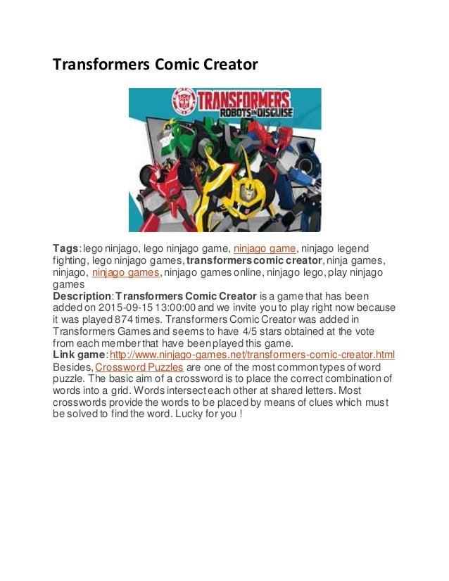 Transformers Comic Creator Tags:lego ninjago, lego ninjago game, ninjago game, ninjago legend fighting, lego ninjago games...