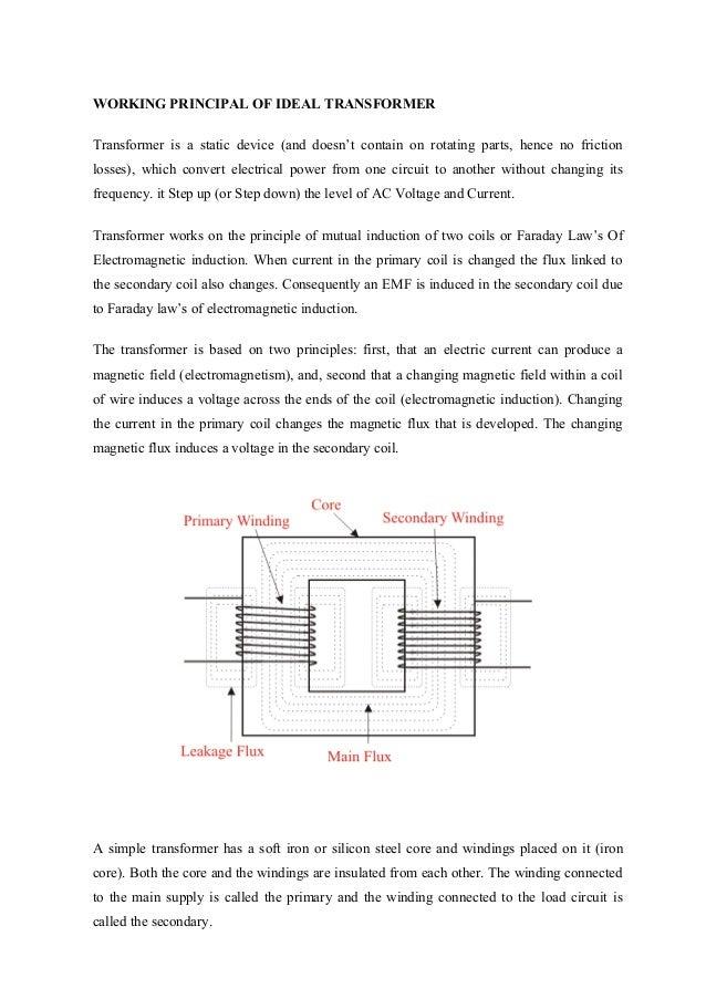 transformers (ee)2 working principal of ideal transformer transformer is