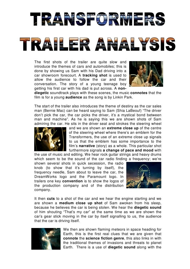 Critical Analysis of Transformers the Movie Essay Sample