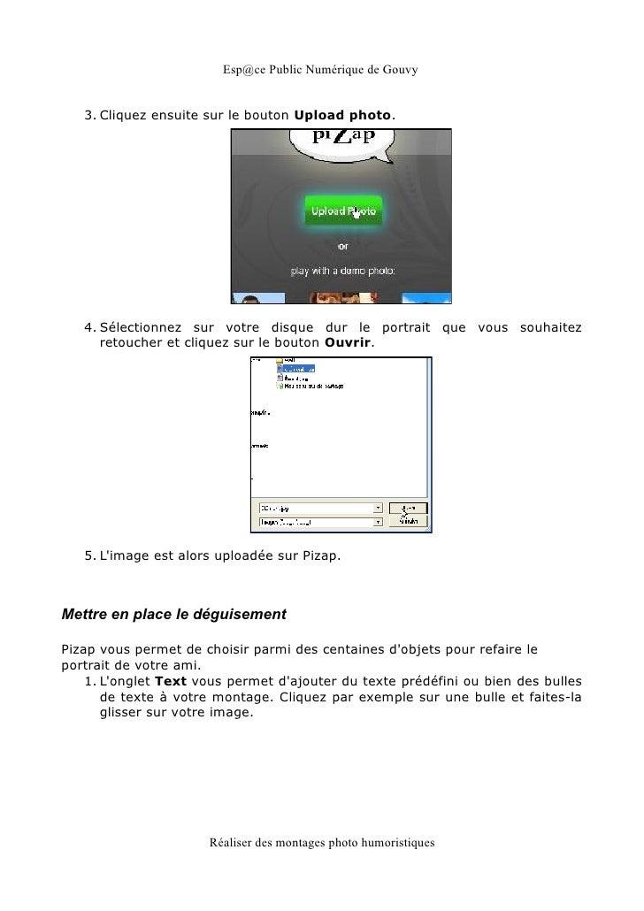 Esp@ce Public Numérique de Gouvy   3. Cliquez ensuite sur le bouton Upload photo.   4. Sélectionnez sur votre disque dur l...