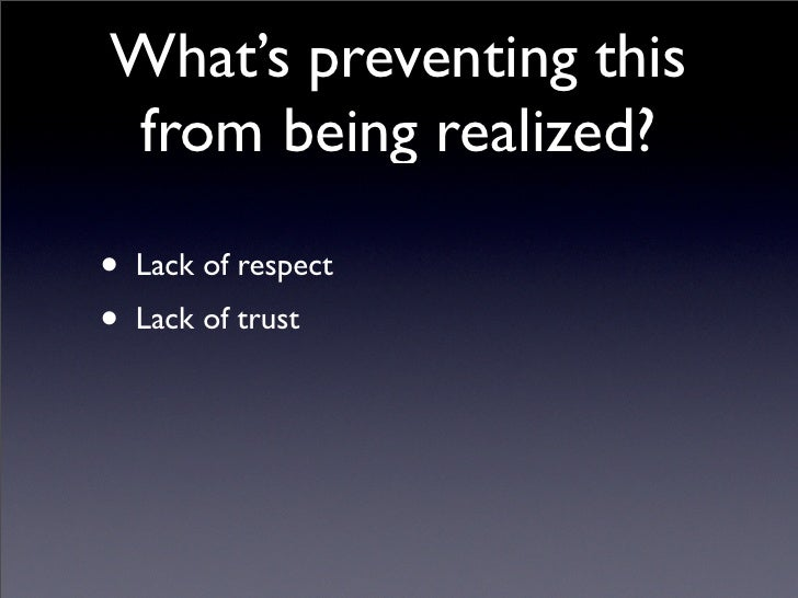 lack of trust in morality Personal integrity and morality of a biggest problem in organizations and individuals today is a lack of trust this lack of trust can be attributed to.