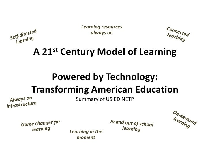 Learning resources                  always on   A 21st Century Model of Learning      Powered by Technology: Transforming ...