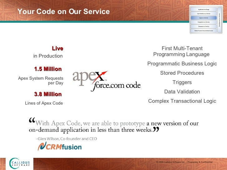 Your Code on Our Service First Multi-Tenant Programming Language  Programmatic Business Logic Stored Procedures Triggers D...