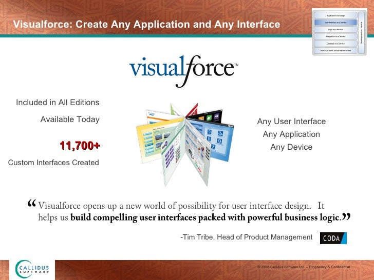 Visualforce: Create Any Application and Any Interface Any User Interface Any Application Any Device -Tim Tribe, Head of Pr...