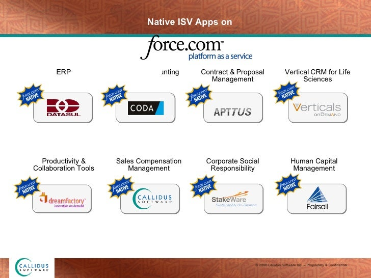 Native ISV Apps on ERP Finance & Accounting Productivity & Collaboration Tools Human Capital Management Vertical CRM for L...