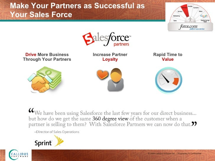Make Your Partners as Successful as  Your Sales Force Rapid Time to  Value Drive  More Business Through Your Partners Incr...