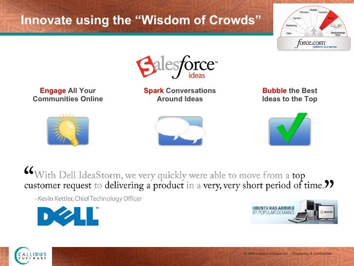 """Innovate using the """"Wisdom of Crowds"""" Engage  All Your Communities Online Spark  Conversations Around Ideas Bubble  the Be..."""