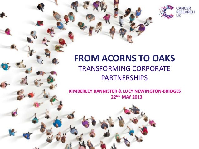 FROM ACORNS TO OAKSTRANSFORMING CORPORATEPARTNERSHIPSKIMBERLEY BANNISTER & LUCY NEWINGTON-BRIDGES22ND MAY 2013