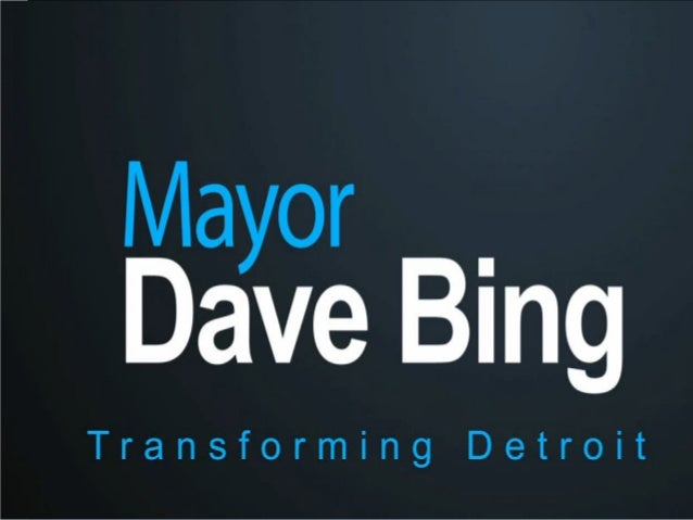 Mayor Dave Bing needed an identity and location to show theaccomplishment achieved under his administration as he began to...