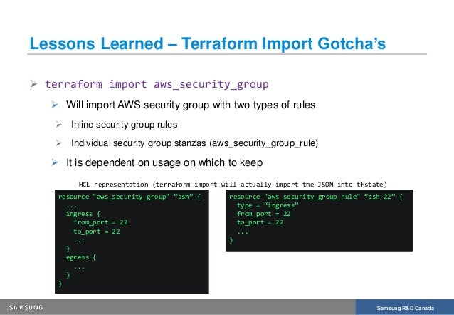 Transforming Infrastructure into Code - Importing existing