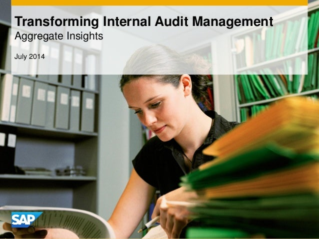 Transforming Internal Audit Management Aggregate Insights July 2014