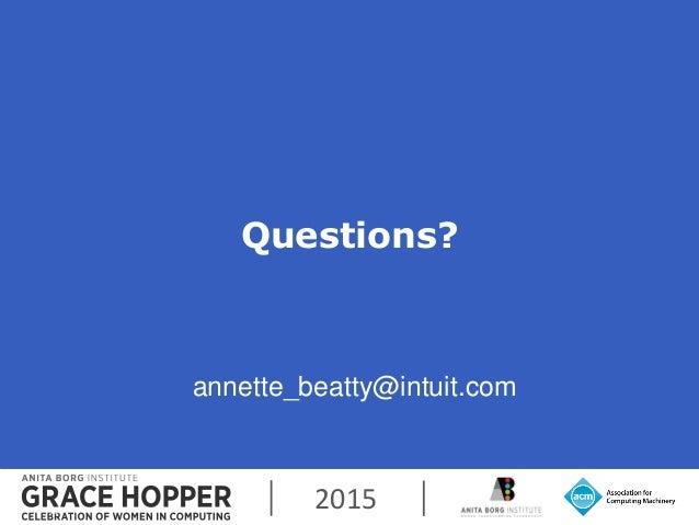 2015 Questions? 31 annette_beatty@intuit.com