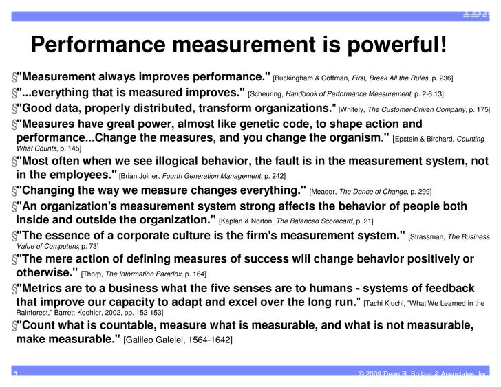 performance measurement 3 essay Essay on performance measurement systems in business 571 words | 3 pages strategy performance measurement is critical in assessing organization overall performance and results are used for strategic planning to develop range of strategies (tapinos & dyson, 2005) for achievement of sustainable business success.