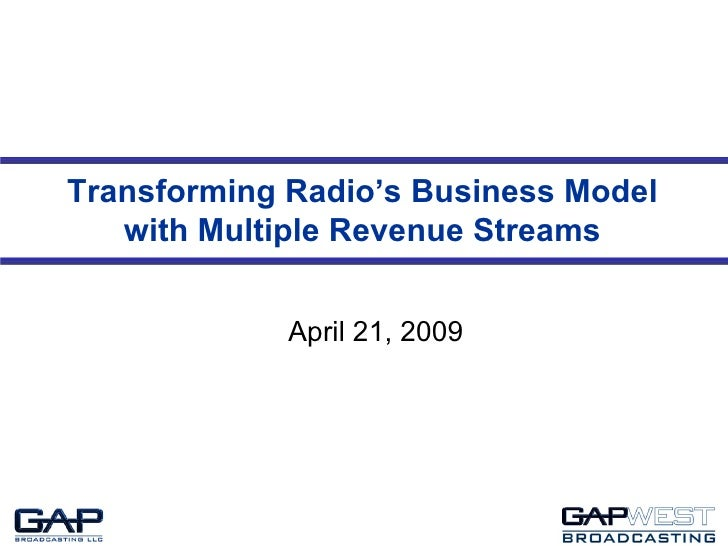Transforming Radio's Business Model with Multiple Revenue Streams April 21, 2009