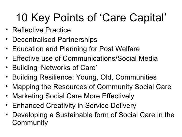 Transforming social care into social capital