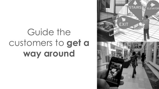Guide the customers to get a way around
