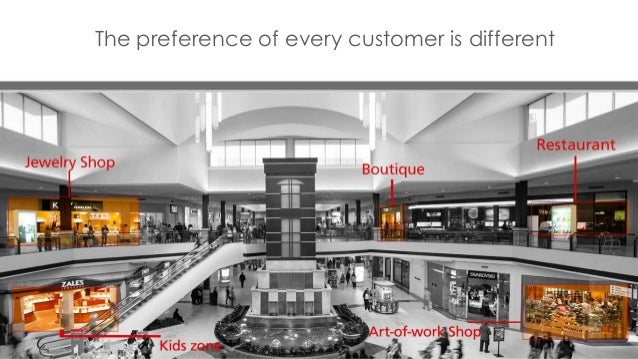 The preference of every customer is different