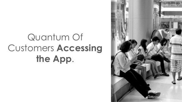 Quantum Of Customers Accessing the App.