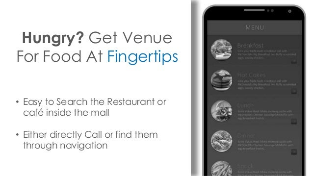 Hungry? Get Venue For Food At Fingertips • Easy to Search the Restaurant or café inside the mall • Either directly Call or...