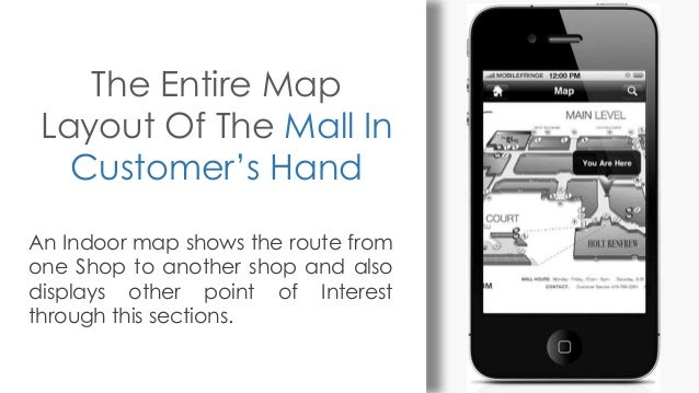 The Entire Map Layout Of The Mall In Customer's Hand An Indoor map shows the route from one Shop to another shop and also ...