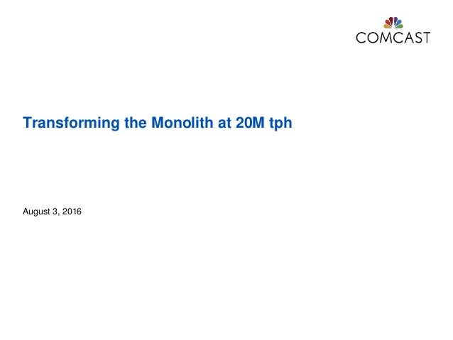 Transforming the Monolith at 20M tph August 3, 2016