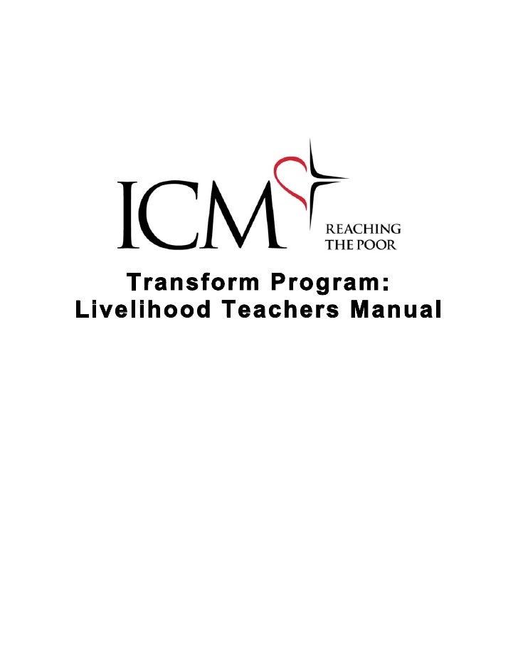 Transform Program: Livelihood Teachers Manual