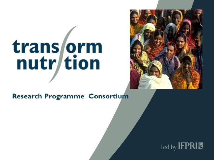 Research Programme Consortium