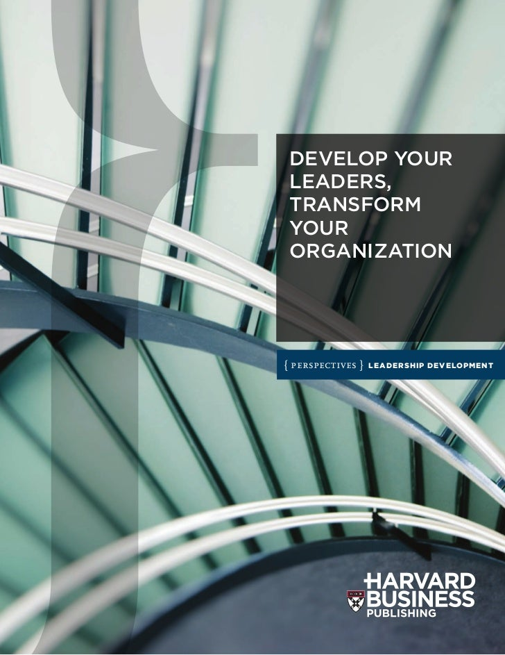 DEVELOP YOUR LEADERS, TRANSFORM YOUR ORGANIZATION{ perspectives }   LEADERSHIP DEVELOPMENT