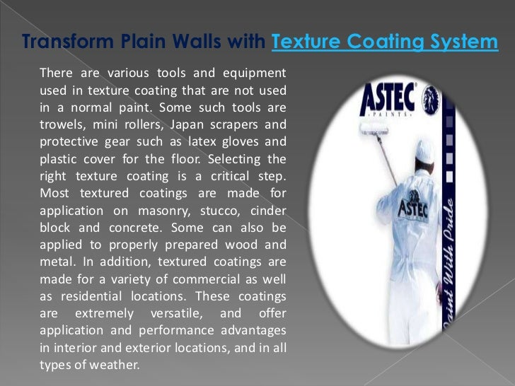 Transform Plain Walls With Texture Coating System