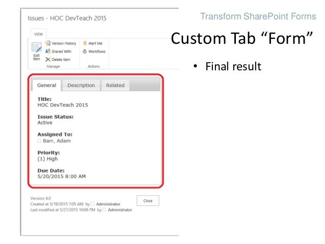 Transform SharePoint List Forms with HTML and CSS