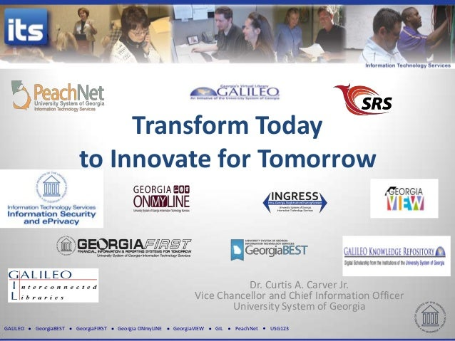 Transform Today                         to Innovate for Tomorrow                                                          ...