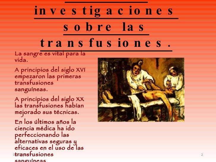 Transfusion de sangre Slide 2
