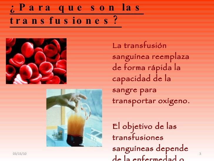 Transfusion de sangre Slide 3