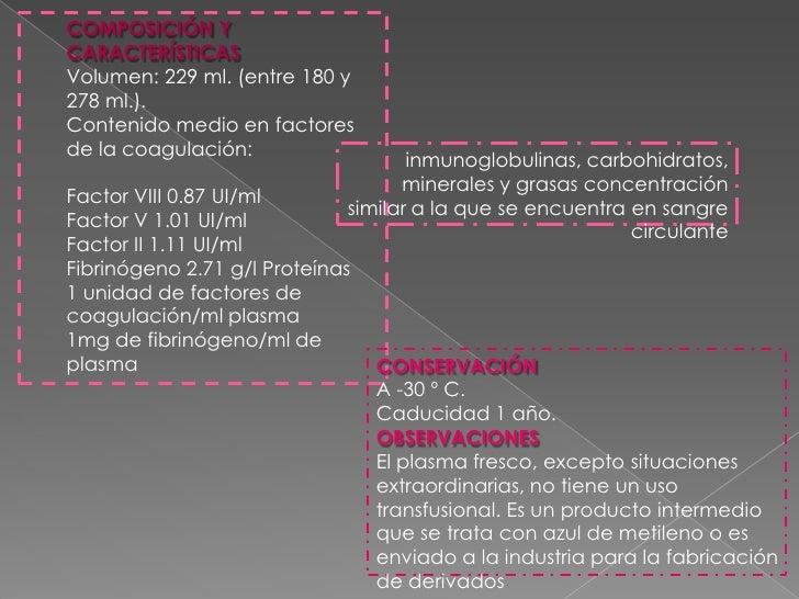 Glóbulos rojos pobres en leucocitos:<br /><ul><li>Los GR pobres en leucocitos deben contener < 5 – 106 leucocitos/unidad y...