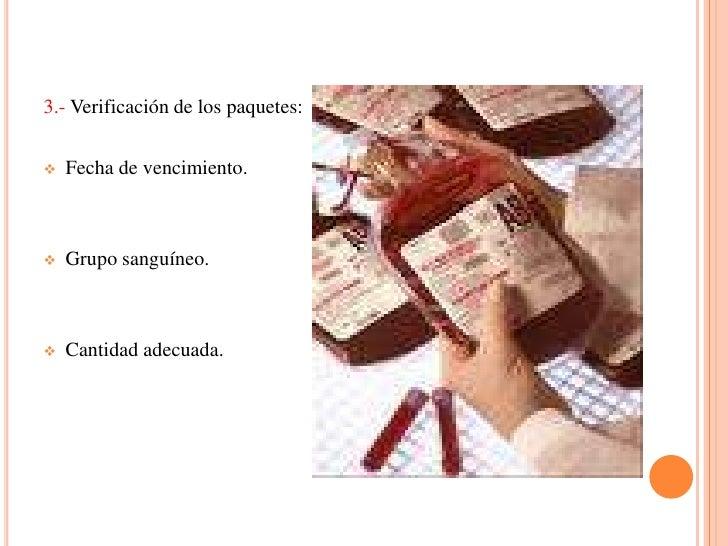 Equipo para transfusiones.
