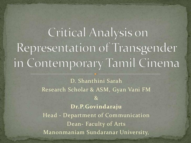 D. Shanthini SarahResearch Scholar & ASM, Gyan Vani FM                  &          Dr.P.GovindarajuHead - Department of Co...