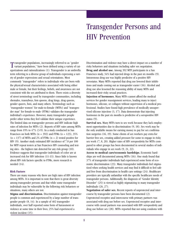 Transgender Persons and                                                                            HIV Prevention   T    r...