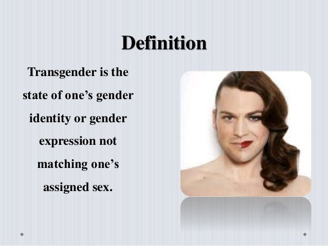 What does transsexual woman mean