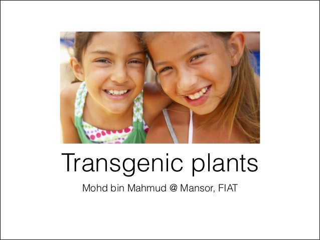 Transgenic plants Mohd bin Mahmud @ Mansor, FIAT