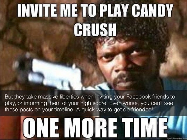 But they take massive liberties when inviting your Facebook friends to  play, or informing them of your high score. Even w...
