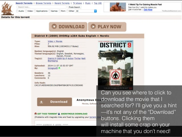 """Can you see where to click to  download the movie that I  searched for? I'll give you a hint  —it's not any of the """"Downlo..."""