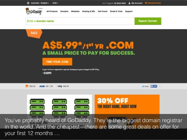 You've probably heard of GoDaddy. They're the biggest domain registrar  in the world. And the cheapest—there are some grea...