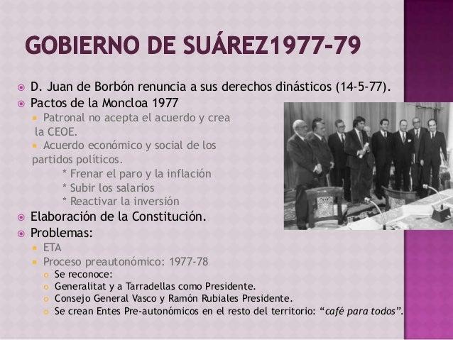  Las Cortes se convierten en constituyentes y comienza la elaboración de la Constitución 1978.  Ponencia constitucional ...